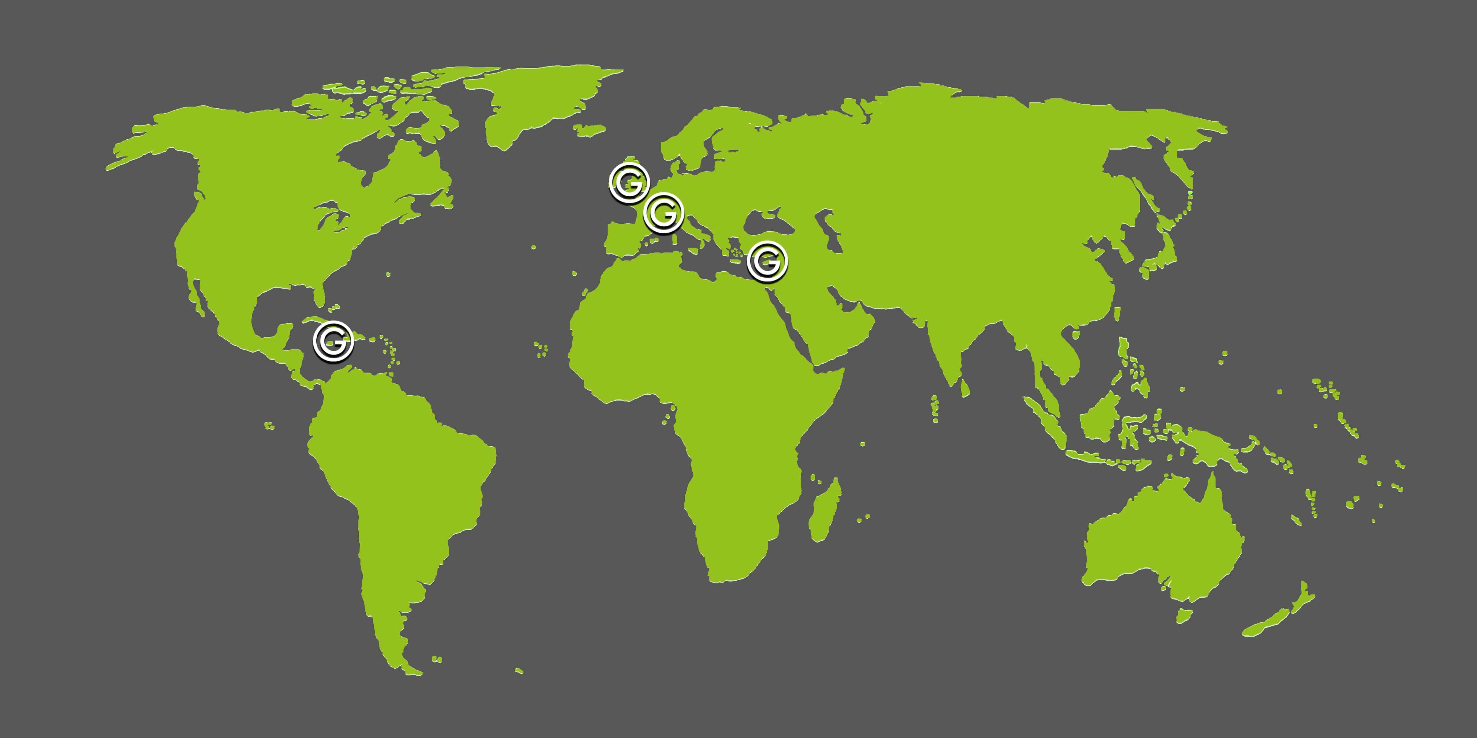 World map international Greenspan Offices